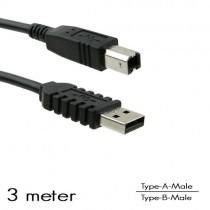 OEM - USB Type-A/B aansluitkabel M/M (3 Meter)